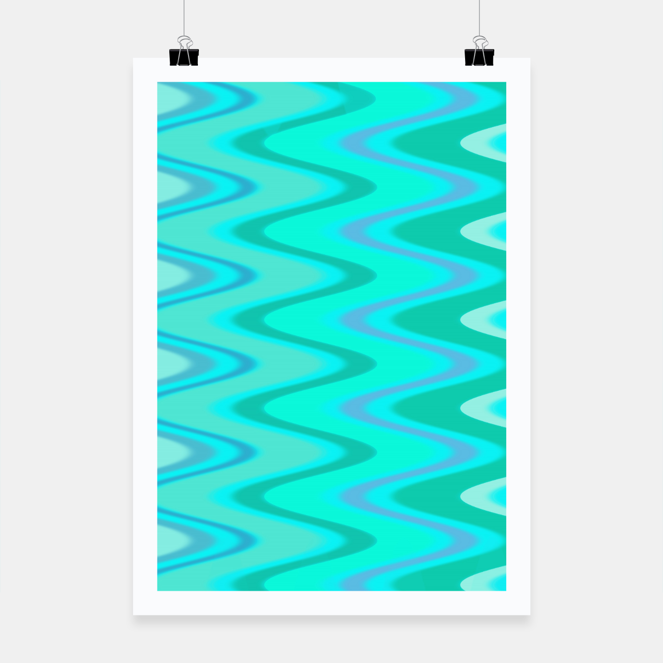 Image of Turquoise Curves Plakat - Live Heroes