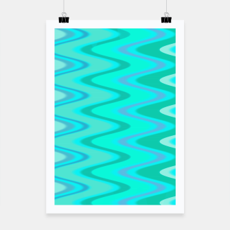 Thumbnail image of Turquoise Curves Plakat, Live Heroes