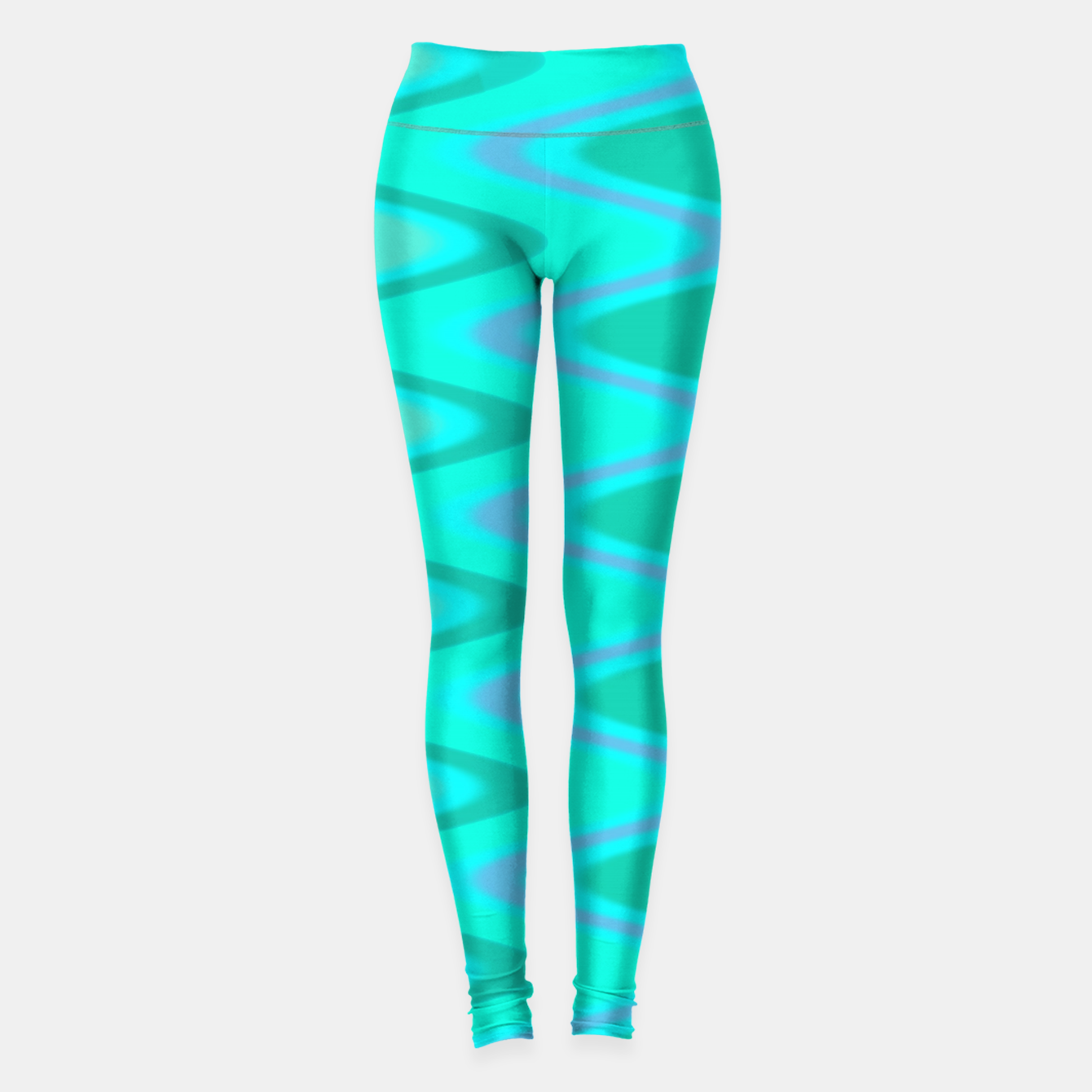 Image of Turquoise Curves Leggings - Live Heroes