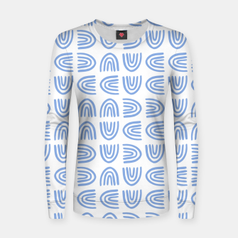 Thumbnail image of Abstract Rainbows Block Pattern | Blue Women sweater, Live Heroes