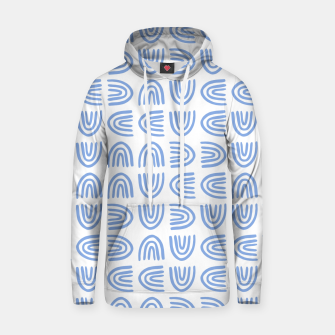 Thumbnail image of Abstract Rainbows Block Pattern | Blue Hoodie, Live Heroes