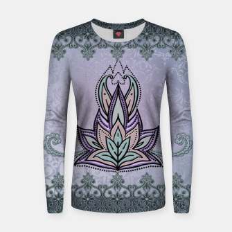 Thumbnail image of Wonderful abstract flower, mandala Women sweater, Live Heroes