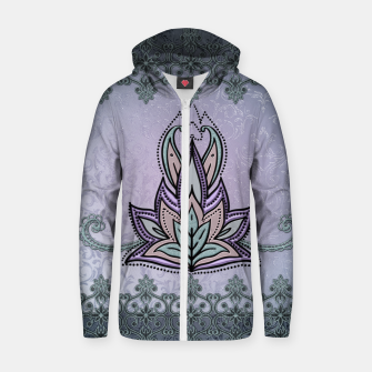 Thumbnail image of Wonderful abstract flower, mandala Zip up hoodie, Live Heroes
