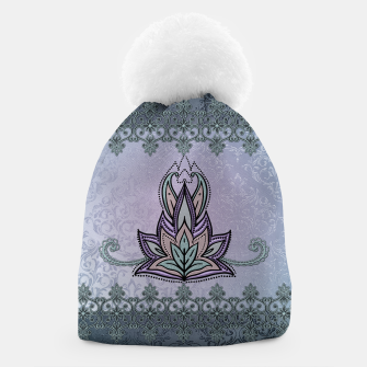 Thumbnail image of Wonderful abstract flower, mandala Beanie, Live Heroes