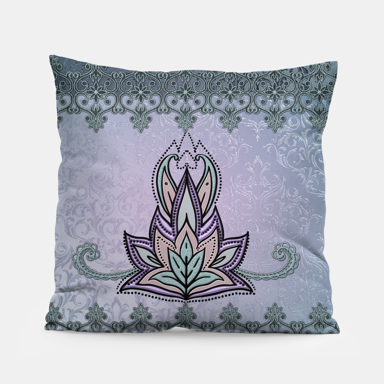 Image of Wonderful abstract flower, mandala Pillow - Live Heroes