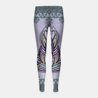 Thumbnail image of Wonderful abstract flower, mandala Girl's leggings, Live Heroes