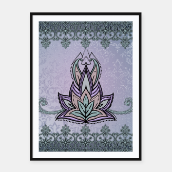Thumbnail image of Wonderful abstract flower, mandala Framed poster, Live Heroes