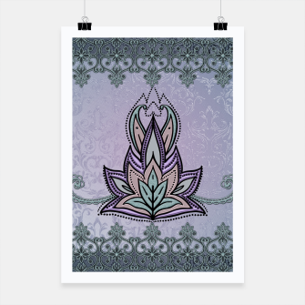 Thumbnail image of Wonderful abstract flower, mandala Poster, Live Heroes