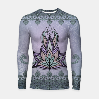 Thumbnail image of Wonderful abstract flower, mandala Longsleeve rashguard , Live Heroes
