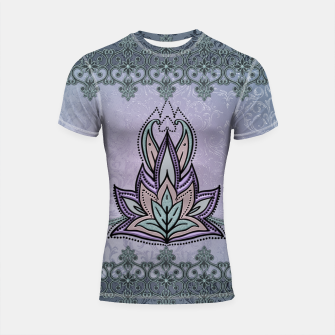 Thumbnail image of Wonderful abstract flower, mandala Shortsleeve rashguard, Live Heroes