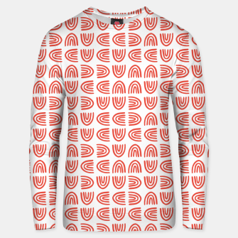 Thumbnail image of Abstract Rainbows Block Pattern | Red Unisex sweater, Live Heroes