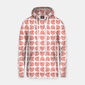 Abstract Rainbows Block Pattern | Red Hoodie thumbnail image