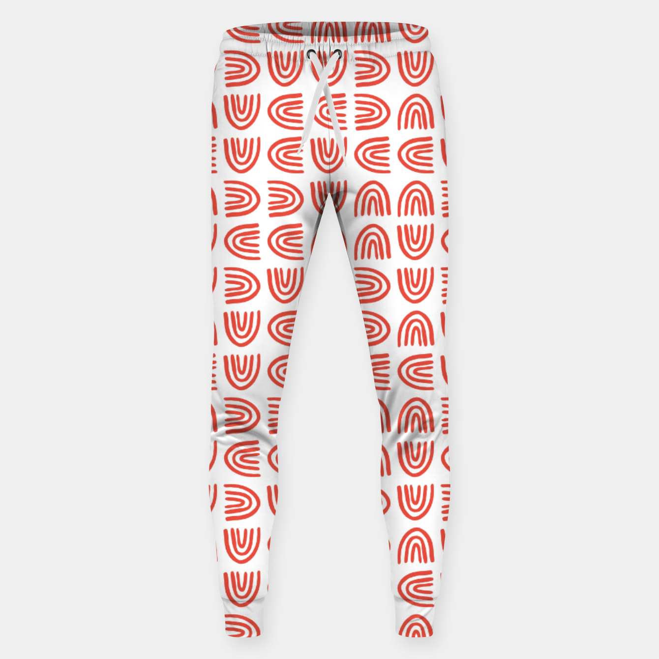 Image of Abstract Rainbows Block Pattern | Red Sweatpants - Live Heroes