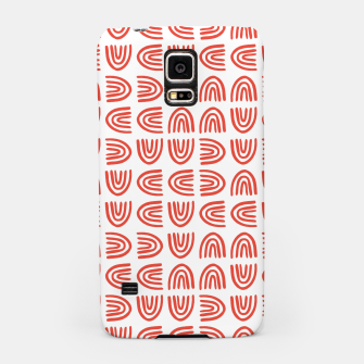 Abstract Rainbows Block Pattern | Red Samsung Case thumbnail image