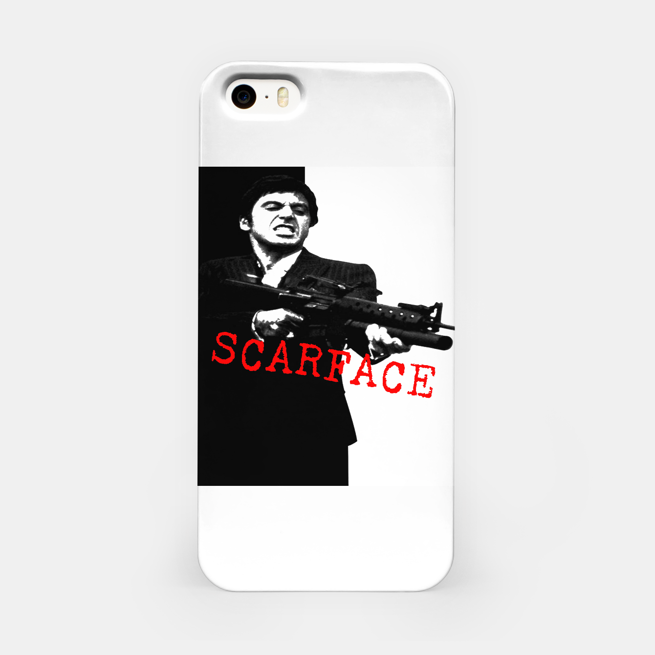 Foto New Fashion Black Shirt For Mens Scarface Guns Apparels Gift T-shirt iPhone Case - Live Heroes