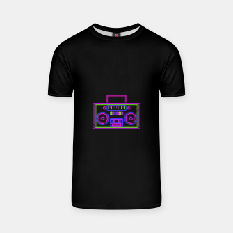 Thumbnail image of Neon Boombox T-shirt, Live Heroes