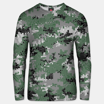 Thumbnail image of Computer Circuit Camo URBAN GAMER Unisex sweater, Live Heroes