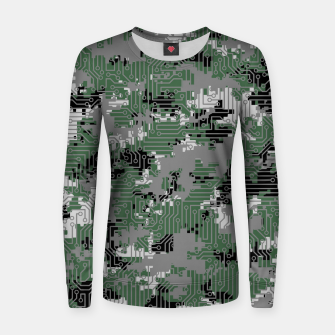 Thumbnail image of Computer Circuit Camo URBAN GAMER Women sweater, Live Heroes