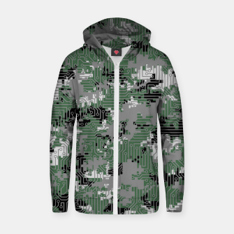 Thumbnail image of Computer Circuit Camo URBAN GAMER Zip up hoodie, Live Heroes