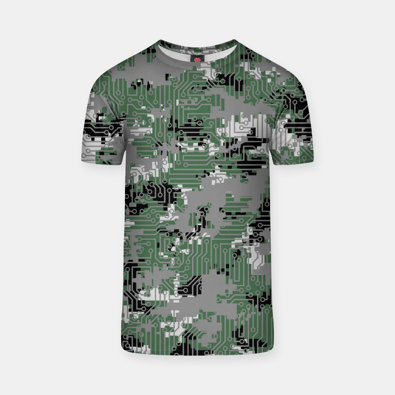 Image of Computer Circuit Camo URBAN GAMER T-shirt - Live Heroes