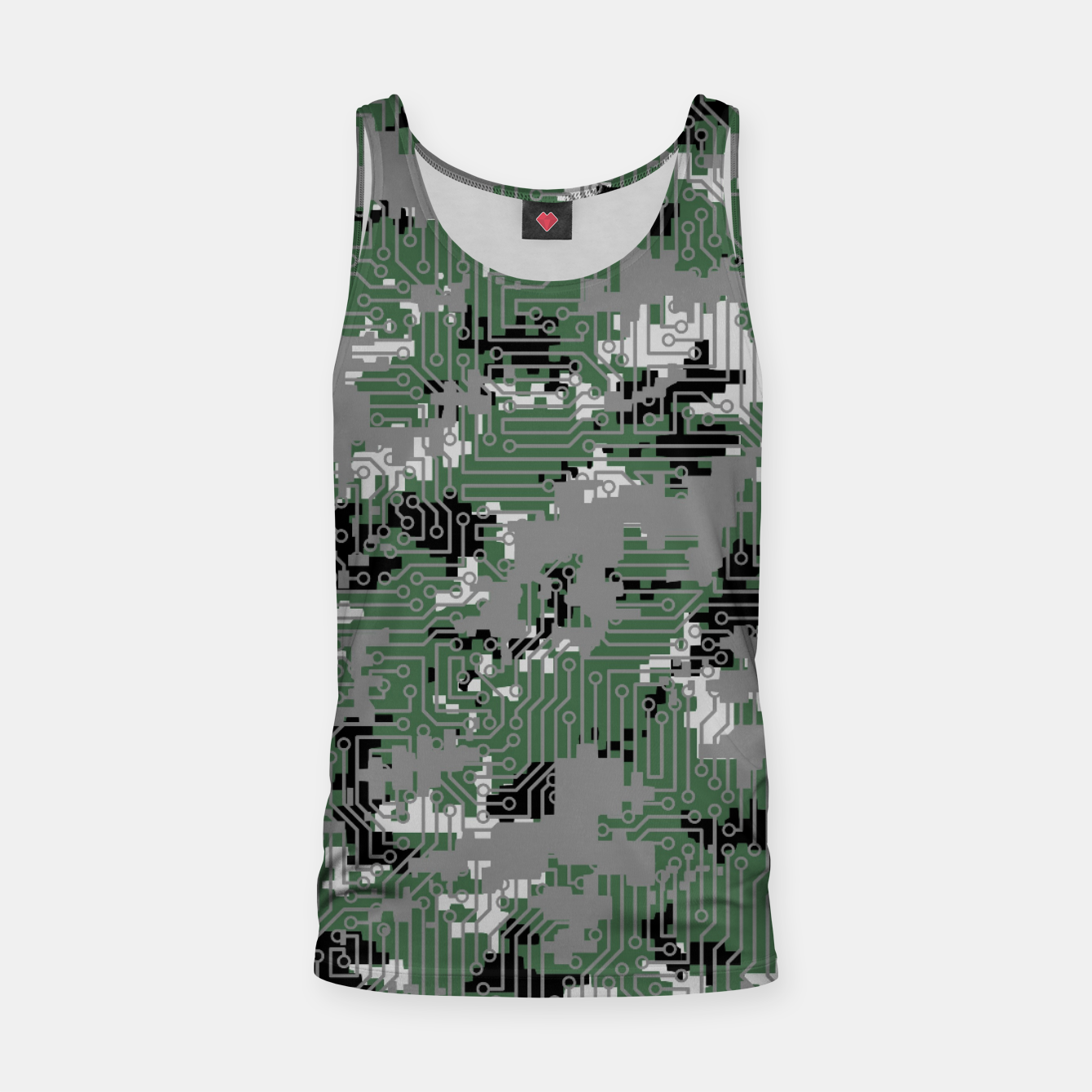 Image of Computer Circuit Camo URBAN GAMER Tank Top - Live Heroes
