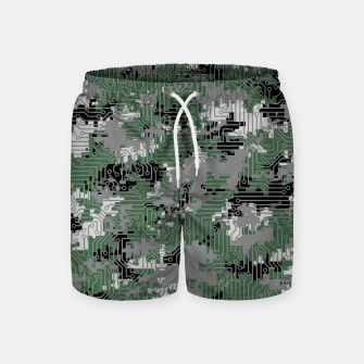Thumbnail image of Computer Circuit Camo URBAN GAMER Swim Shorts, Live Heroes