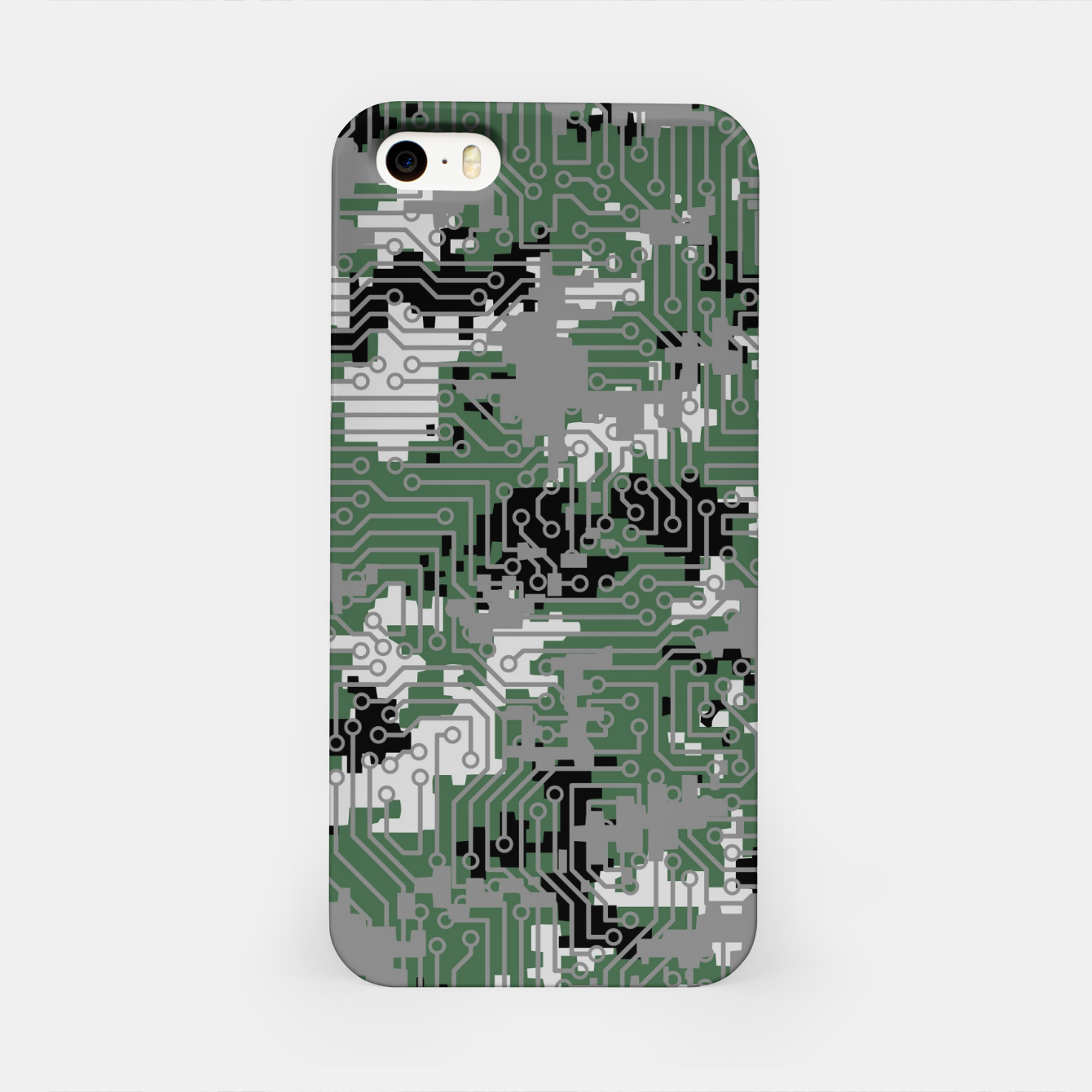 Image of Computer Circuit Camo URBAN GAMER iPhone Case - Live Heroes