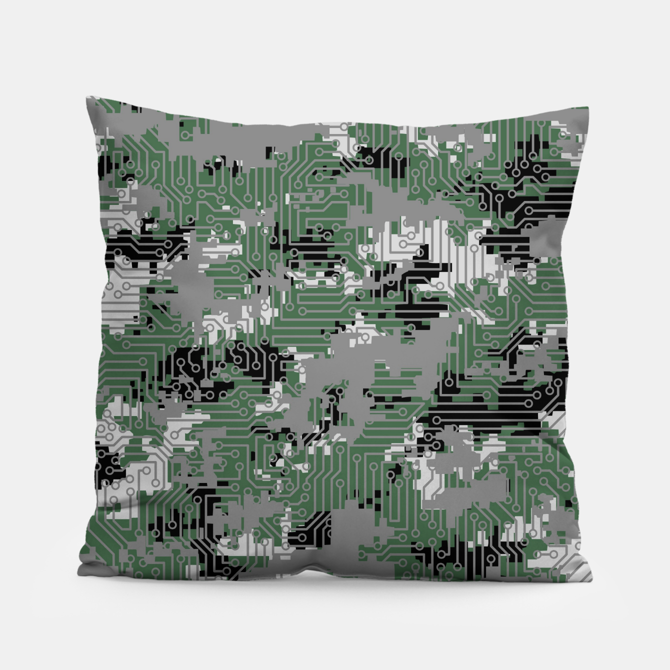 Image of Computer Circuit Camo URBAN GAMER Pillow - Live Heroes