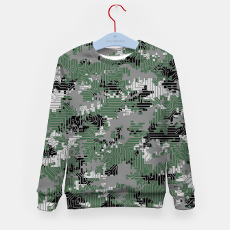 Thumbnail image of Computer Circuit Camo URBAN GAMER Kid's sweater, Live Heroes