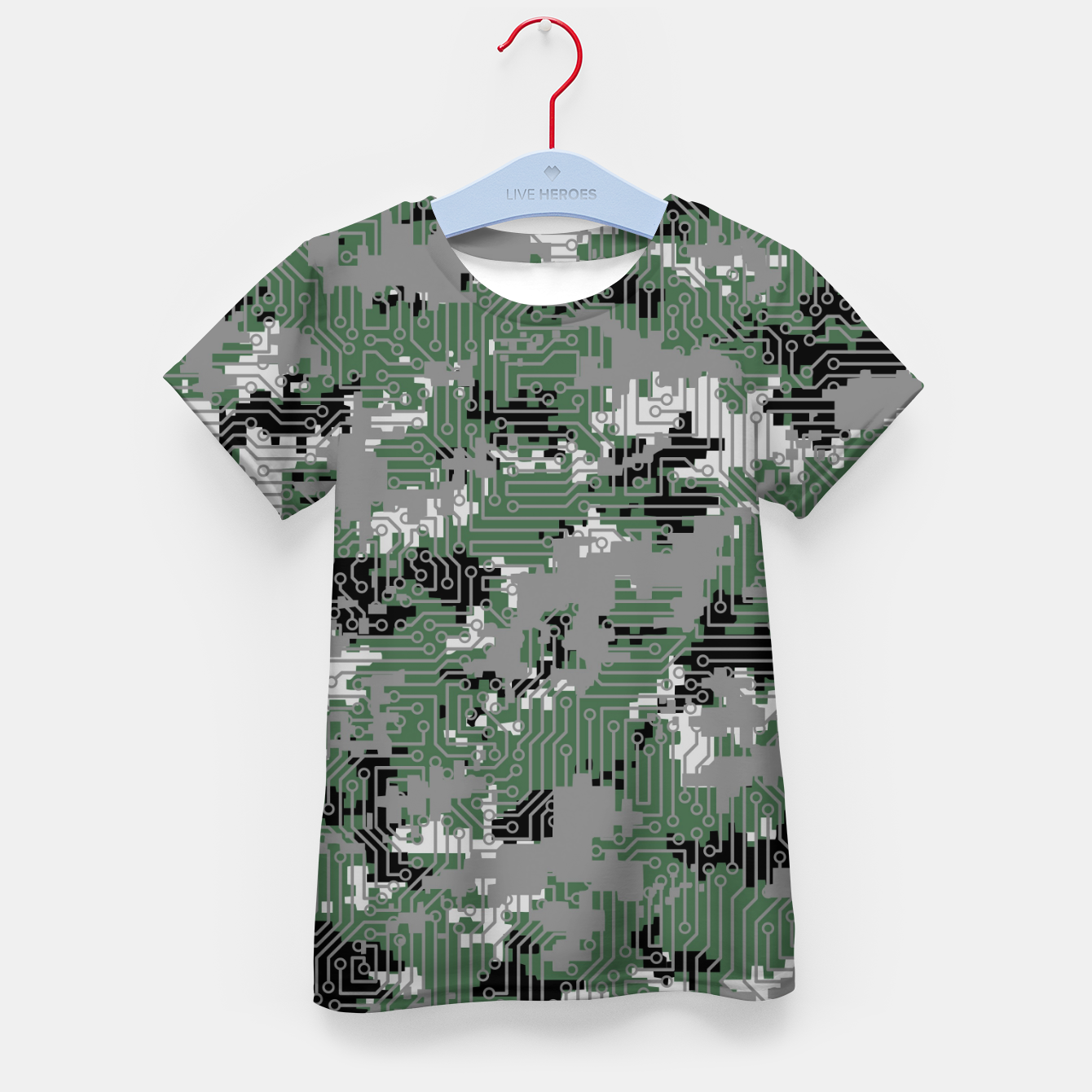 Image of Computer Circuit Camo URBAN GAMER Kid's t-shirt - Live Heroes