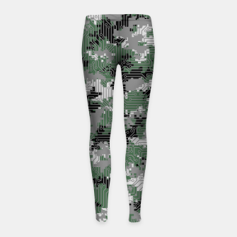 Thumbnail image of Computer Circuit Camo URBAN GAMER Girl's leggings, Live Heroes