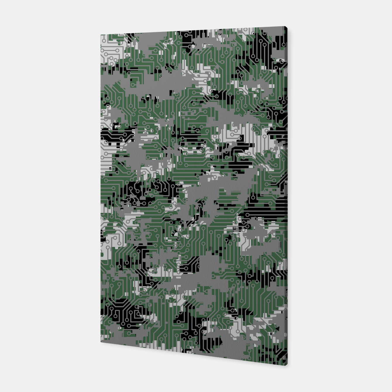 Image of Computer Circuit Camo URBAN GAMER Canvas - Live Heroes