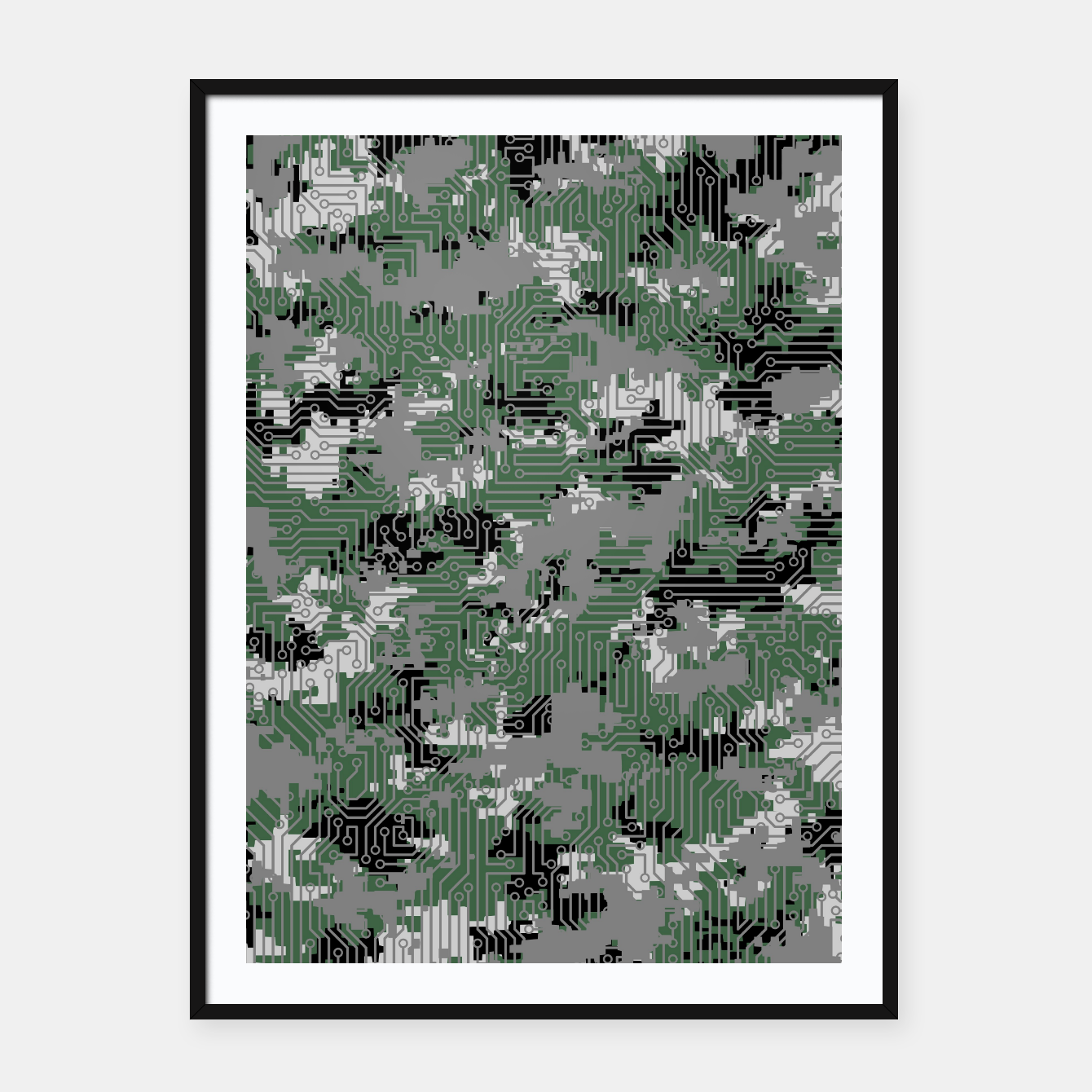 Image of Computer Circuit Camo URBAN GAMER Framed poster - Live Heroes
