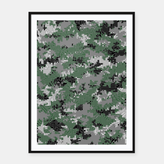 Thumbnail image of Computer Circuit Camo URBAN GAMER Framed poster, Live Heroes