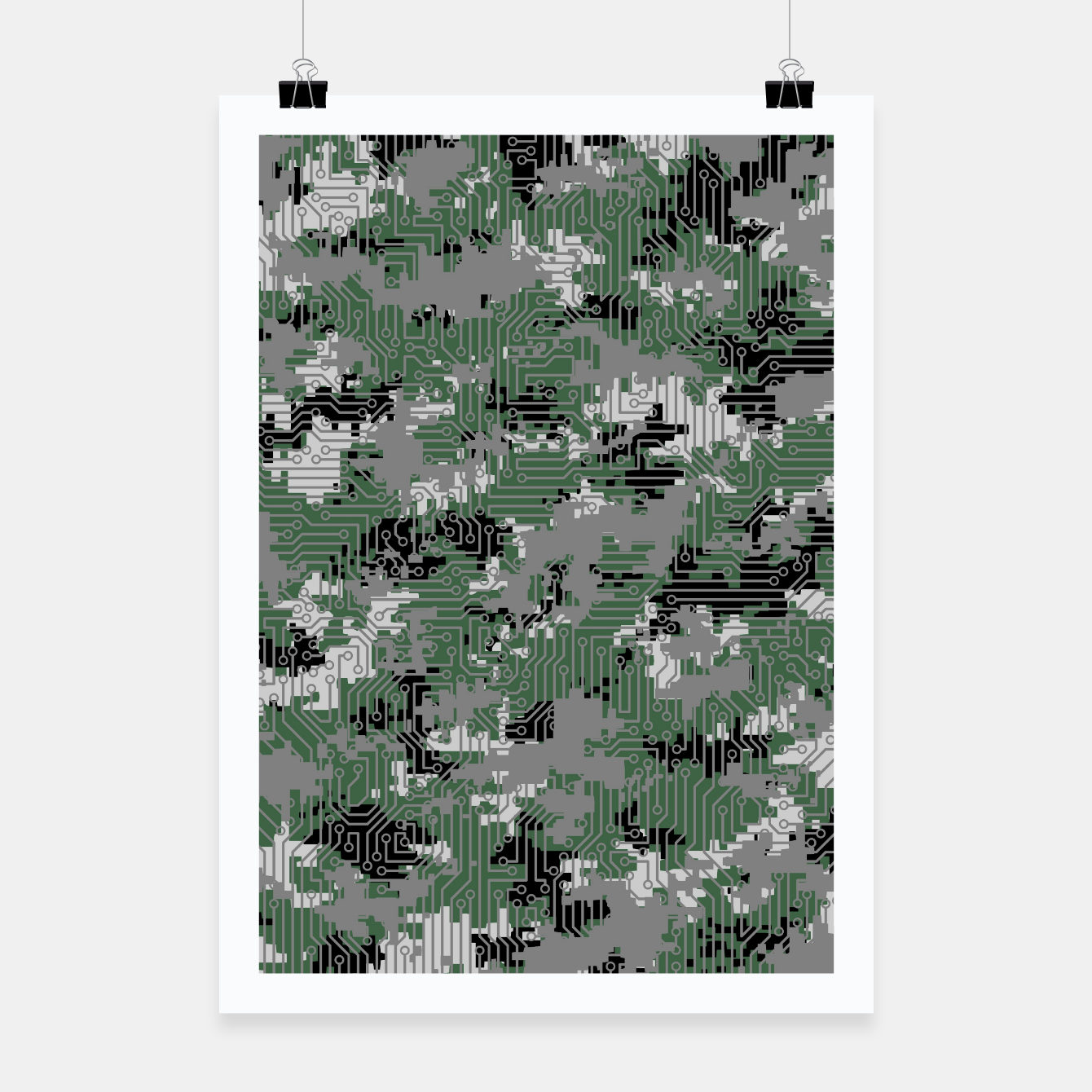 Image of Computer Circuit Camo URBAN GAMER Poster - Live Heroes