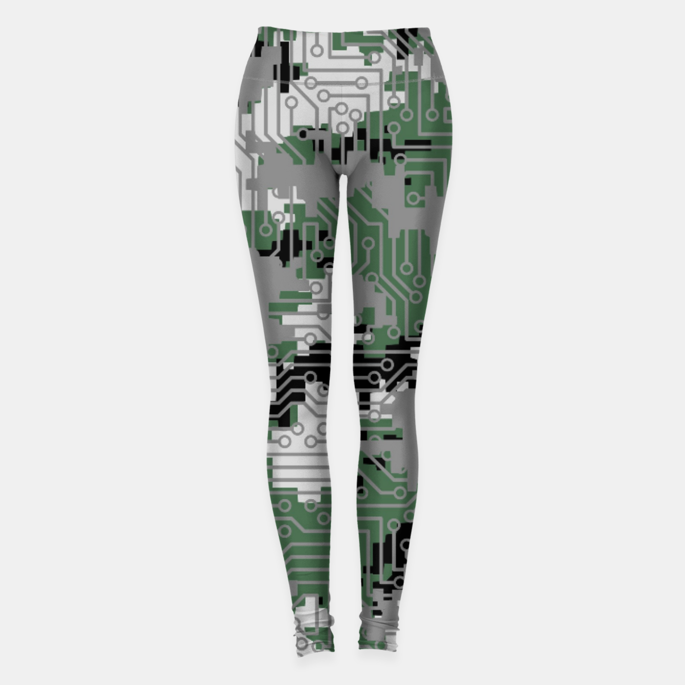 Image of Computer Circuit Camo URBAN GAMER Leggings - Live Heroes