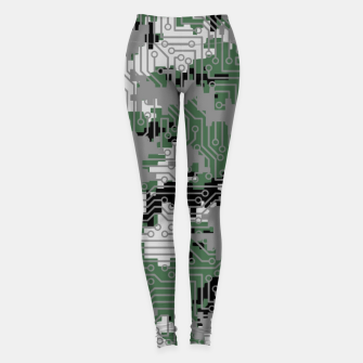 Thumbnail image of Computer Circuit Camo URBAN GAMER Leggings, Live Heroes