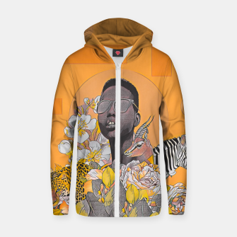 Thumbnail image of IN DA JUNGLE Zip up hoodie, Live Heroes