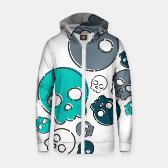 Thumbnail image of Skulls #01 Zip up hoodie, Live Heroes