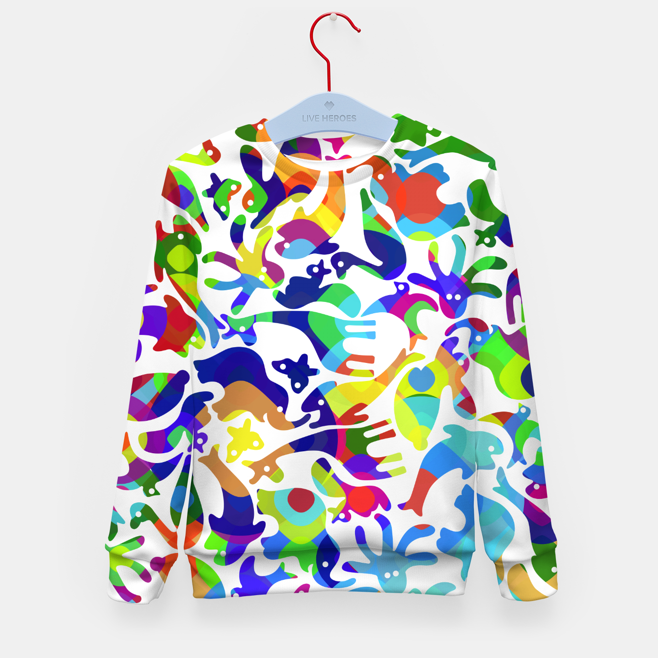 Image of Psychedelic Kid's sweater - Live Heroes