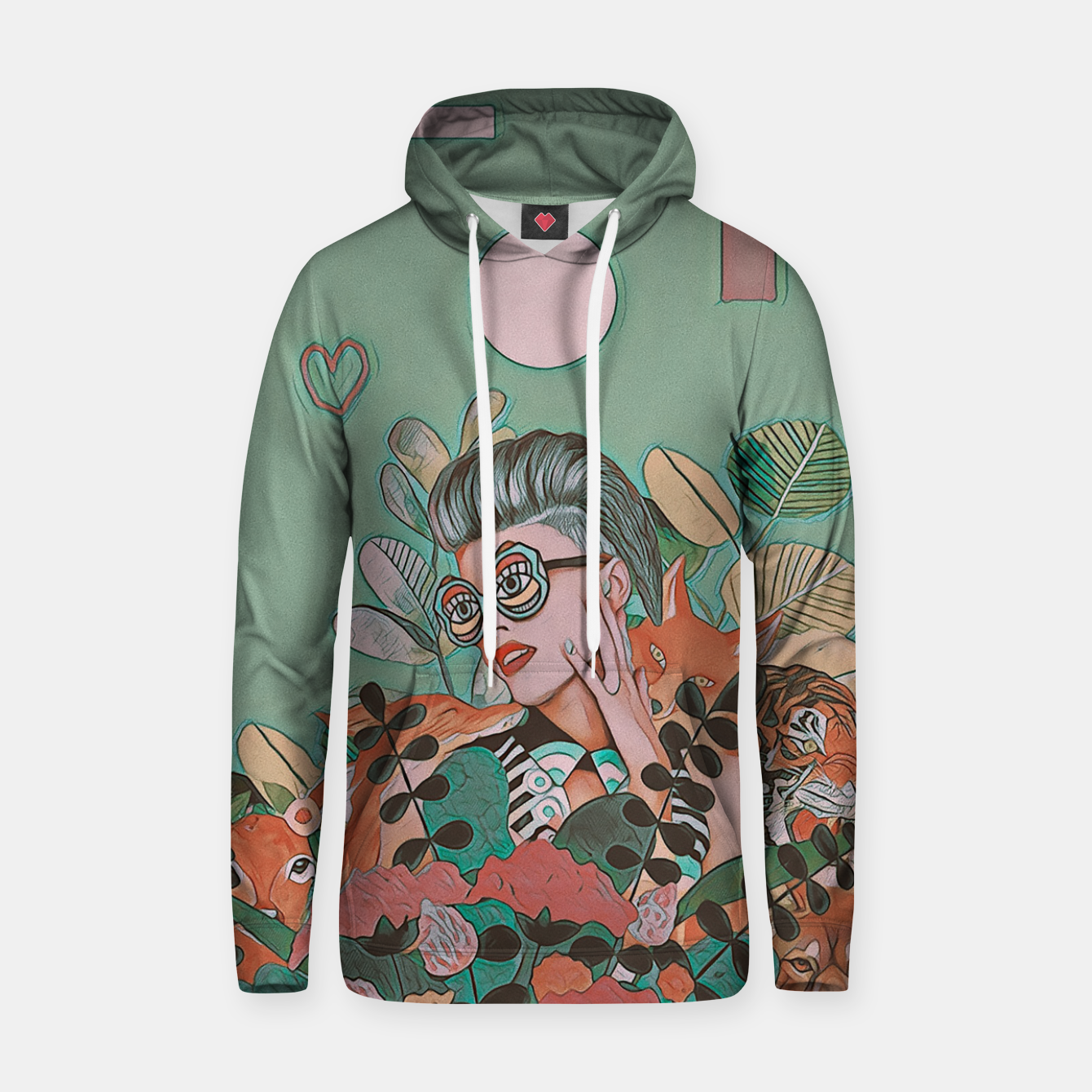 Image of JUNGLE LOVE Hoodie - Live Heroes