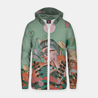 Thumbnail image of JUNGLE LOVE Zip up hoodie, Live Heroes