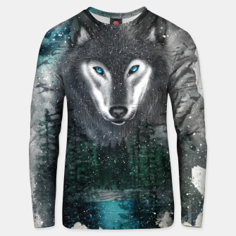 Miniatur Night of the wolf Unisex sweater, Live Heroes