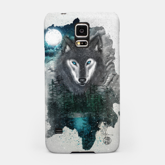 Miniatur Night of the wolf Samsung Case, Live Heroes