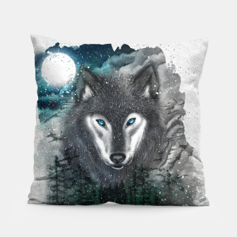 Miniatur Night of the wolf Pillow, Live Heroes