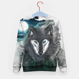 Miniatur Night of the wolf Kid's sweater, Live Heroes