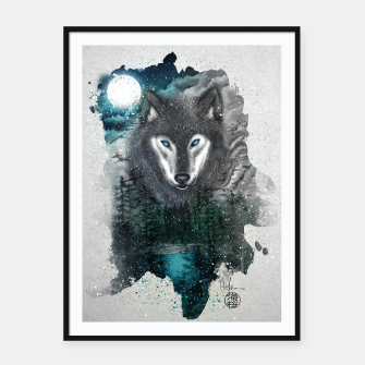 Miniatur Night of the wolf Framed poster, Live Heroes
