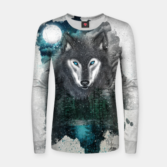 Miniatur Night of the wolf Women sweater, Live Heroes