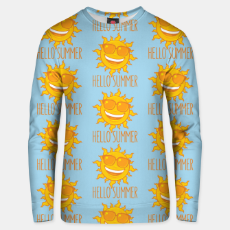 Miniatur Hello Summer Sun With Sunglasses Unisex sweater, Live Heroes