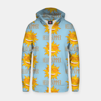 Miniatur Hello Summer Sun With Sunglasses Zip up hoodie, Live Heroes